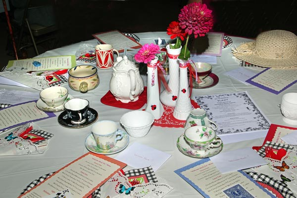 Welcome Back Tea Table Setting