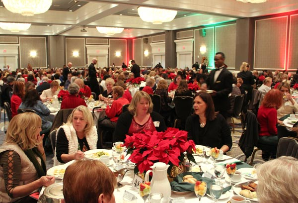 Members Enjoying The Holly Berry Lunch